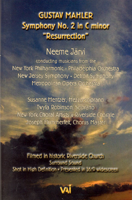 SYMPHONY NO.2 RESURRECTION/ NEEME JARVI [말러 교향곡 2번 부활]