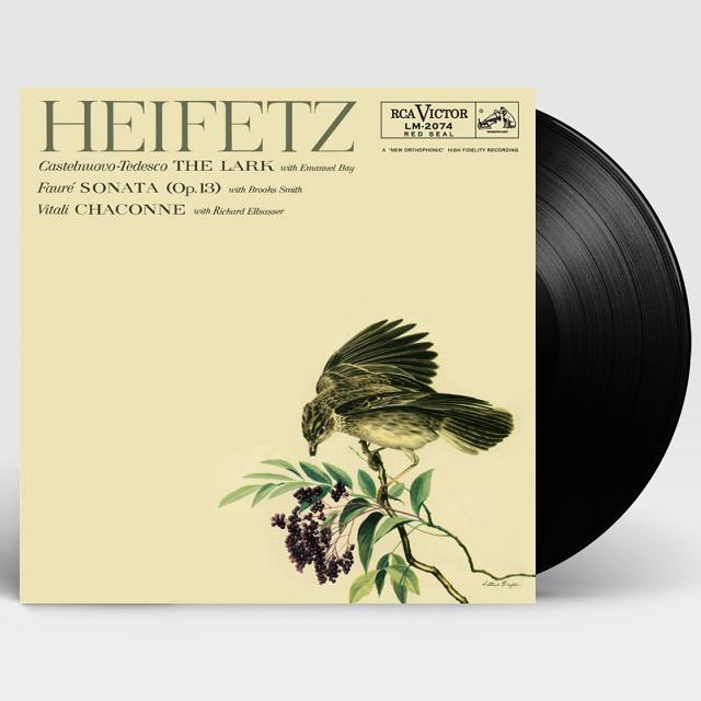 THE LARK, CHACONNE [야샤 하이페츠: 비탈리 샤콘느, 테데스코, 포레] [ANALOGPHONIC 180G LP]
