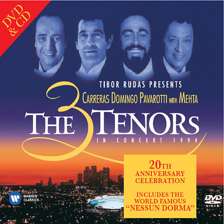 THE 3 TENORS IN CONCERT 1994 [CD+DVD] [3테너 콘서트]