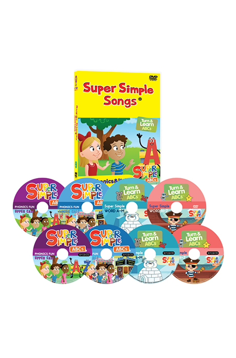 뉴 슈퍼심플송 8종세트 [4DVD+4CD] [NEW SUPER SIMPLE ABC PHONICS & WORD]
