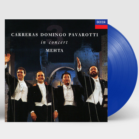 THE ORIGINAL THREE TENORS: IN CONCERT ROME 1990/ ZUBIN MEHTA [쓰리 테너 로마월드컵공연: 30주년 기념] [한정반] [180G BLUE LP]