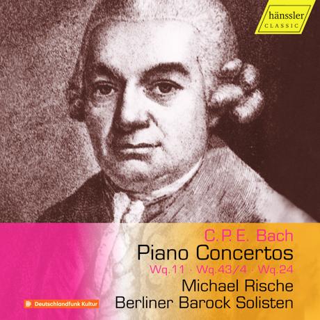 PIANO CONCERTOS WQ.11, WQ 43/4 & WQ.24/ MICHAEL RISCHE [C.P.E. 바흐: 피아노(건반) 협주곡 - 미하엘 리스케]