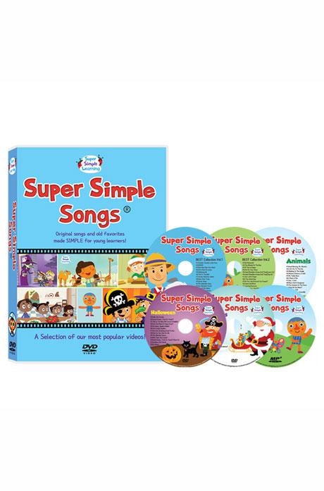 슈퍼심플송 1집 6종세트 [DVD+MP3CD(전곡수록)] [SUPER SIMPLE SONGS]