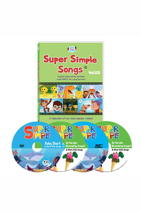 슈퍼심플송 1집 4종세트 [DVD+MP3CD(전곡수록)] [SUPER SIMPLE SONGS]