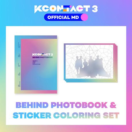 BEHIND PHOTOBOOK & STICKER COLORING SET [ATEEZ / BTOB / DREAM CATCHER] [KCON:TACT 3 OFFICIAL MD]