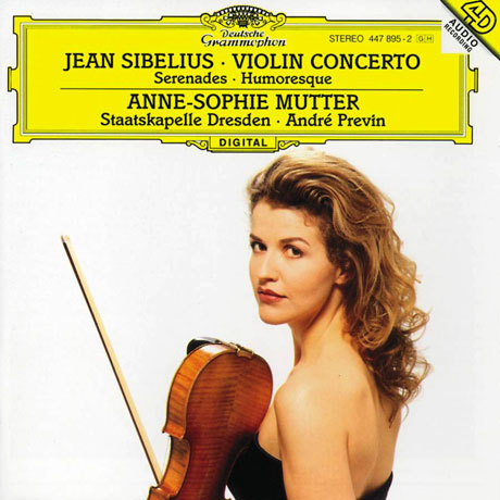 VIOLIN CONCERTOS, SERENADES, HUMORESQUE/ ANNE-SOPHIE MUTTER, ANDRE PREVIN [시벨리우스: 바이올린 협주곡, 세레나데, 유모레스크 - 무터, 프레빈]