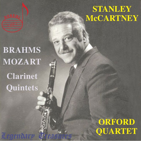 CLARINET QUINTETS/ STANLEY MCCARTNEY, ORFORD QUARTET [모차르트 & 브람스: 클라리넷 5중주]
