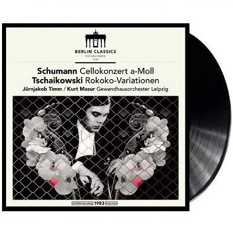 CELLO CONCERTO, ROCOCO-VARIATIONS/ JURNJAKOB TIMM, KURT MASUR [LP] [슈만: 첼로 협주곡 & 차이코프스키: 로코코 변주곡 - 쿠르트 마주어]
