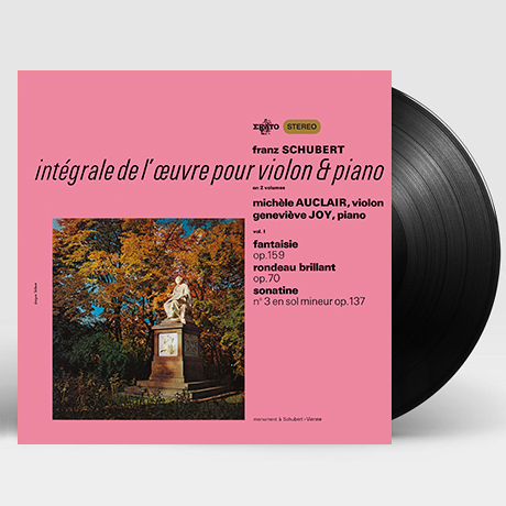 SCHUBERT: INTEGRALE DE L`AEUVRE POUR VIOLON & PIANO VOL.1 [미셸 오클레르: 슈베르트 바이올린과 피아노을 위한 작품 1집] [180G LP]