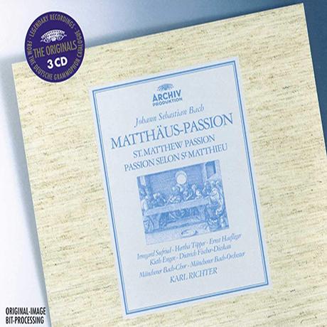 ST. MATTHEW PASSION/ KARL RICHTER [THE ORIGINALS] [바흐: 마태수난곡 - 칼 리히터]