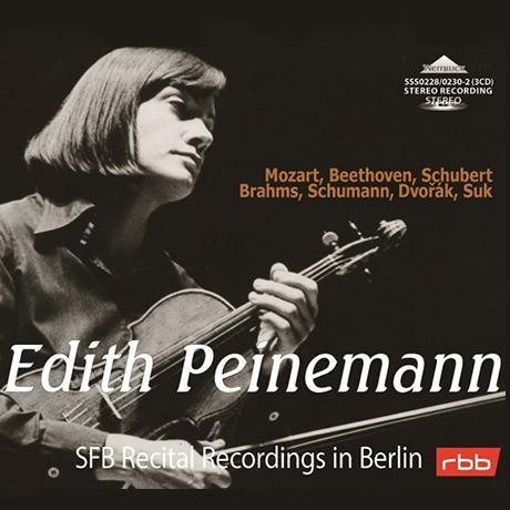SFB RECITAL RECORDINGS IN BERLIN [슈만, 브람스, 슈베르트, 베토벤: 바이올린 소나타 - 에디트 파이네만]