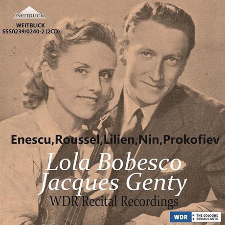 WDR RECITAL RECORDINGS/ JACQUES GENTRY [20세기 바이올린 명곡집: 에네스쿠, 루셀, 릴리안 - 롤라 보베스코]