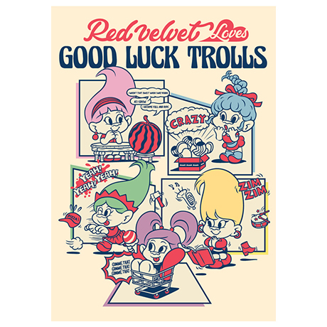 LOVES GOOD LUCK TROLLS - POSTCARD [A TYPE]