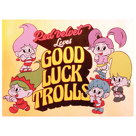 LOVES GOOD LUCK TROLLS - HOLOGRAM POSTCARD [GROUP A]