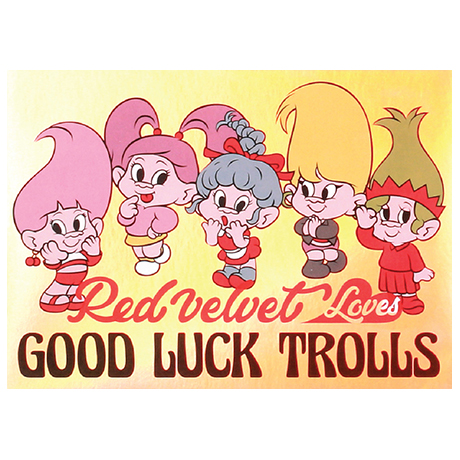 LOVES GOOD LUCK TROLLS - HOLOGRAM POSTCARD [GROUP B]