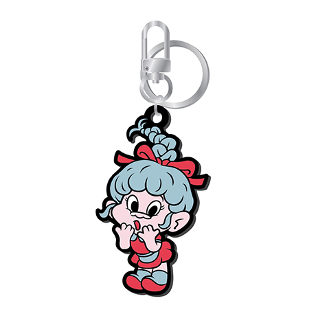 LOVES GOOD LUCK TROLLS - RUBBER KEYRING [WENDY(웬디) TROLL VER]