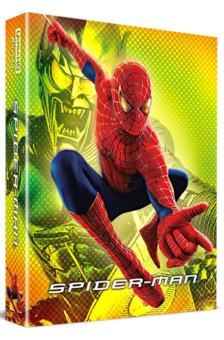 스파이더맨 4K UHD+BD [렌티큘러 풀슬립 스틸북 한정판] [SPIDER-MAN]