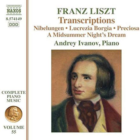 COMPLETE PIANO MUSIC 55: NIBELUNGEN, LUCREZIA BORGIA/ ANDREY IVANOV [리스트: 멘델스존, 도니제티, 베버, 마이어베어 외 오페라 편곡집 - 안드레이 이바노프]