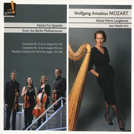 CONCERTOS/ VARIAN FRY QUARTET, MARIE PIERRE LANGLAMET [모차르트: 피아노 협주곡 10, 12, 13번 (하프와 현악사중주) | 마리-피에르 랑글라메]