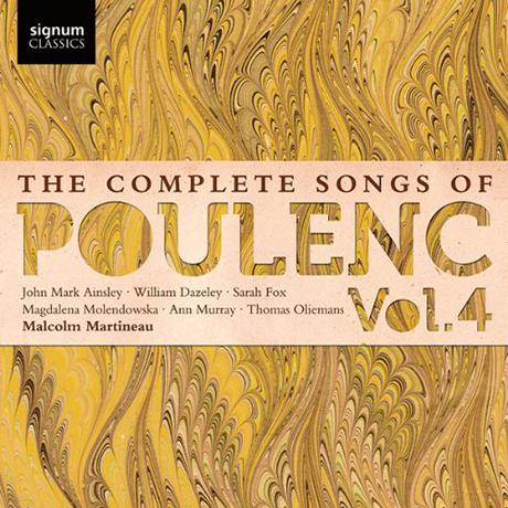 THE COMPLETE SONGS OF POULENC VOL.4/ MALCOLM MARTINEAU [풀랑크: 가곡 전집 4집]