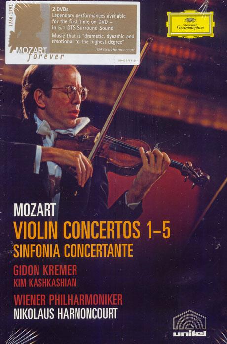 VIOLIN CONCERTOS 1-5/ GIDON KREMER, NIKOLAUS HARNONCOURT [모차르트: 바이올린 협주곡 전집]