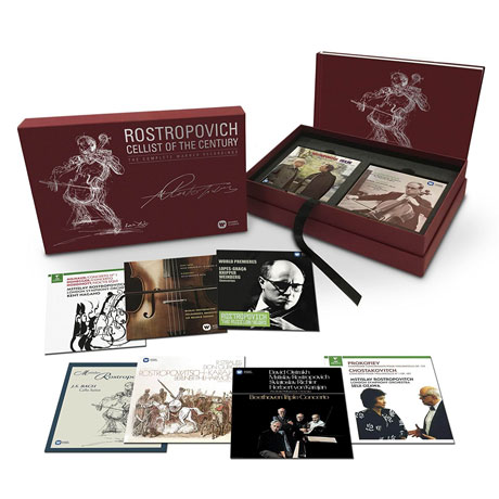 CELLIST OF THE CENTURY: THE COMPLETE WARNER RECORDINGS [40CD+3DVD] [로스트로포비치 워너 전집]