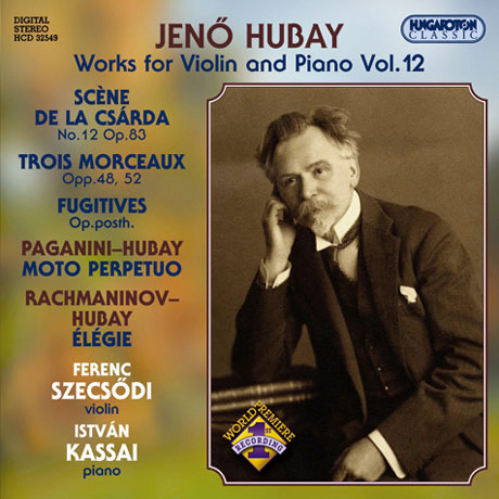 WORKS FOR VIOLIN AND PIANO VOL,12/ FERENC SZECSODI/ ISTVAN KASSAI