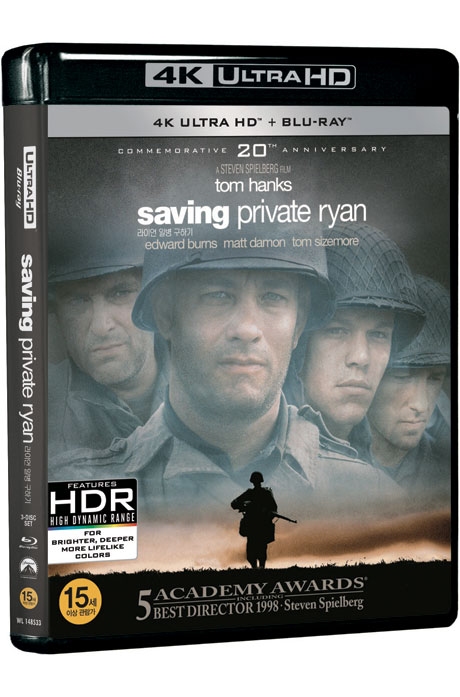 라이언 일병 구하기 4K UHD+BD [SAVING PRIVATE RYAN]