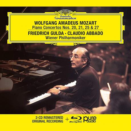 PIANO CONCERTOS NOS.20, 21, 25 & 27/ FRIEDRICH GULDA, CLUDIAO ABBADO [2CD+BDA] [모차르트: 피아노 협주곡 - 굴다, 아바도]