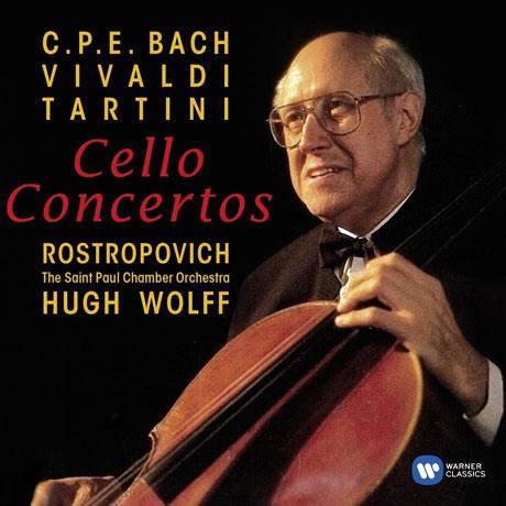 C.P.E. BACH, VIVALDI, TARTINI: CELLO CONCERTOS/ HUGH WOLFF [ORIGINAL JACKET] [로스트로포비치: 비발디, 타르티니, C.P.E 바흐 첼로 협주곡]