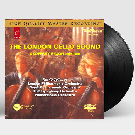 THE 40 CELLOS/ GEOFFREY SIMON [런던 첼로 사운드: 40대의 첼로로 연주하는 클래식 소품집] [180G HQ 45RPM LP]