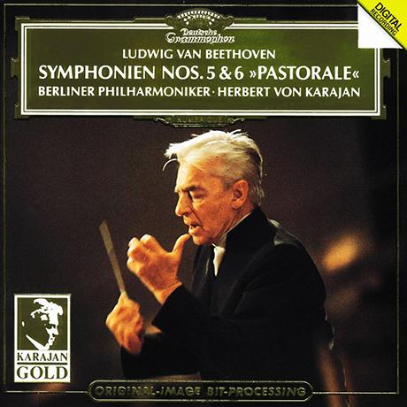 "SYMPHONY NO.5 & 6 ""PASTORALE""/ HERBERT VON KARAJAN [KARAJAN GOLD] [베토벤: 교향곡 5 & 6 <전원교향곡> | 카라얀]"