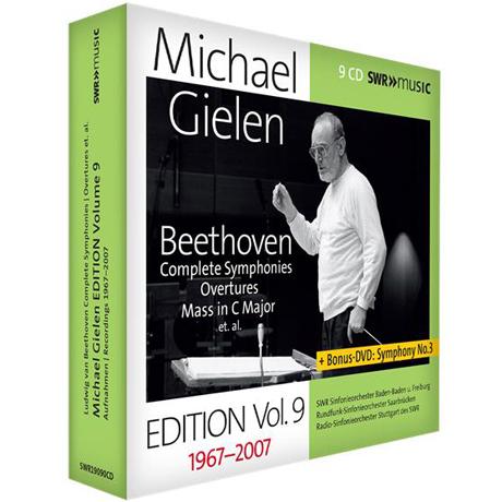 COMPLETE SYMPHONIES, OVERTURES, MASS/ MICHAEL GIELEN [9CD+DVD] [길렌 에디션 9집: 베토벤: 교향곡 전 (+1,3,5,7번 추가녹음), 서곡, 미사 C장조 외]