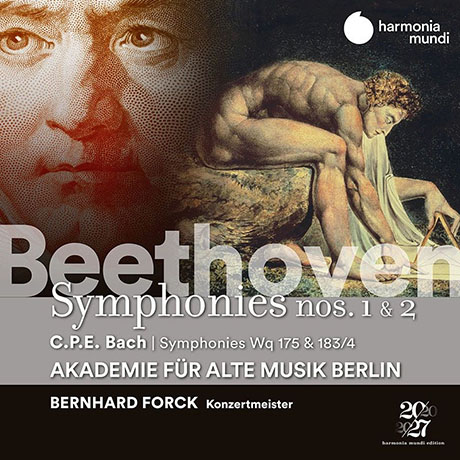 SYMPHONIES NOS.1 & 2, SYMPHONIES WQ 175 & 183/4/ BERNHARD FORCK [베토벤: 교향곡 1, 2번 & C.P.E. 바흐: 교향곡집]