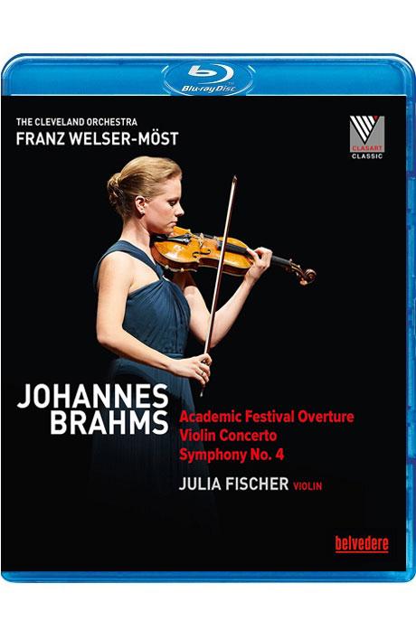 ACADEMIC FESTIVAL OVERTURE, VIOLIN CONCERTO, SYMPHONY NO.4/ JULIA FISCHER, FRANZ WELSER-MOST [클리블랜드 오케스트라가 연주하는 브람스 - 피셔, 벨저 뫼스트]