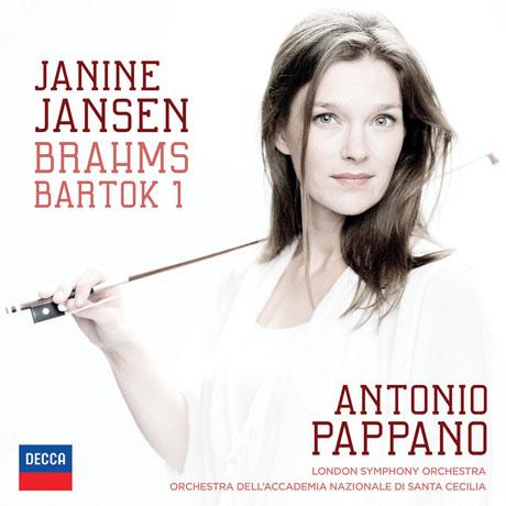 BRAHMS & BARTOK: VIOLIN CONCERTOS/ ANTONIO PAPPANO [재닌 얀센: 브람스 & 바르톡 바이올린 협주곡]