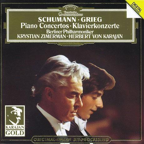 PIANO CONCERTOS/ KRYSTIAN ZIMERMAN, HERBERT VON KARAJAN [KARAJAN GOLD] [슈만 & 그리그: 피아노 협주곡 - 지메르만 & 카라얀]