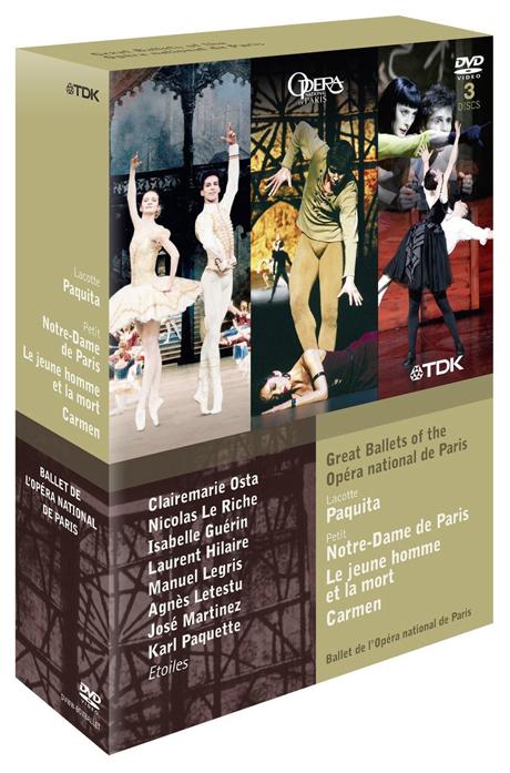 GREAT BALLETS OF THE OPERA NATIONAL DE PARIS/ ROLAND PETIT [파리국립오페라 발레단을 대표하는 공연실황모음집]