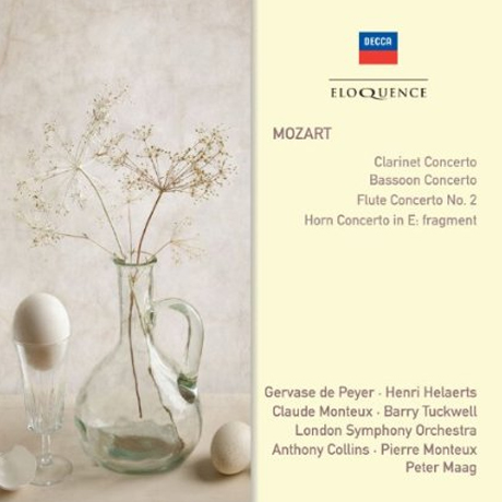 CLARINET CONCERTO/ GERVASE DE PEYER, ANTHONY COLLINS