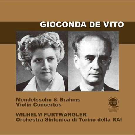 VIOLIN CONCERTOS/ GIOCONDA DE VITO, WILHELM FURTWANGLER [멘델스존 & 브람스: 바이올린 협주곡 - 드 비토, 푸르트뱅글러]