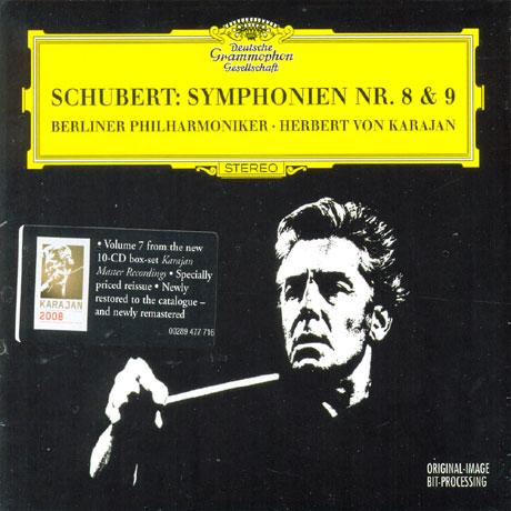 SYMPHONIES NOS.8 & 9/ HERBERT VON KARAJAN [DIGIPACK] [슈베르트: 교향곡 8, 9번 - 카라얀]