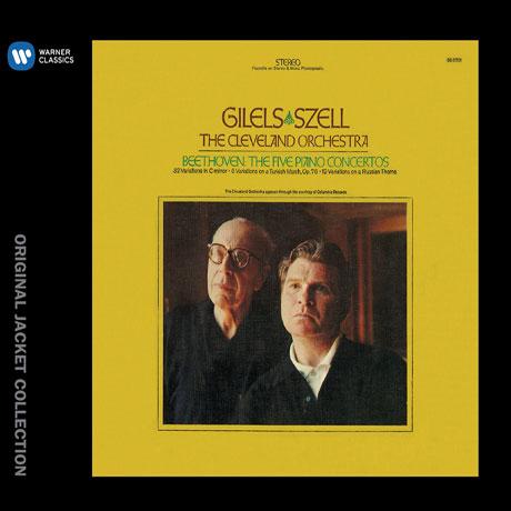 THE 5 PIANO CONCERTOS & VARIATIONS/ EMIL GILELS, GEORGE SZELL [워너 오리지널 자켓 컬렉션] [에밀 길렐스: 베토벤 피아노 협주곡 전곡 & 변주곡] [한정반]
