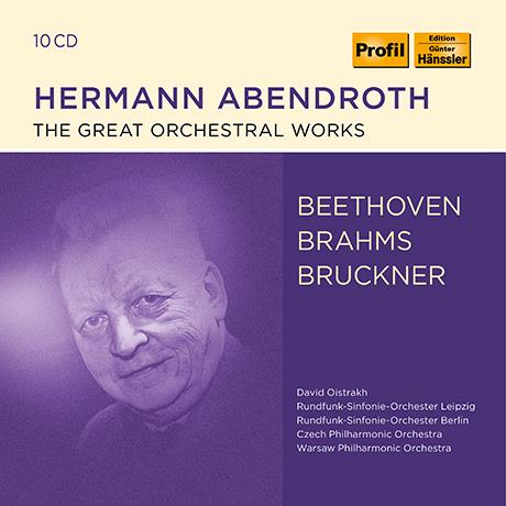 THE GREAT ORCHESTRAL WORKS/ HERMANN ABENDROTH [베토벤, 브람스, 브루크너: 교향곡집 - 헤르만 아벤드로트]