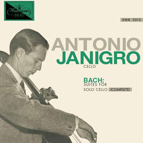 BACH: SUITES FOR SOLO CELLO (COMPLETE)/ ANTONIO JANIGRO [안토니오 야니그로: 바흐 무반주 첼로 전집]