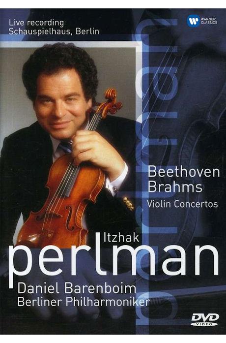 BEETHOVEN, BRAHMS VIOLIN CONCERTOS/ DANIEL BARENBOIM [이차크 펄만: 베토벤 & 브람스 바이올린 협주곡]
