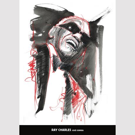 레이 찰스 & 호세 꼬레아 [50*70] [포스터+지관통]