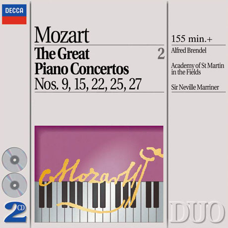 THE GREAT PIANO CONCERTOS 2/ ALFRED BRENDEL, NEVILLE MARRINER [DECCA DUO] [모차르트: 피아노 협주곡 명곡 2집 - 브렌델, 매리너]