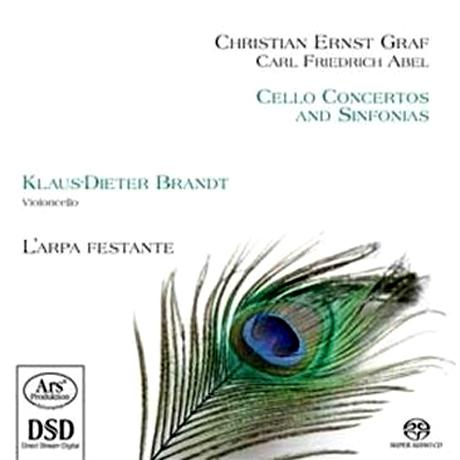 CELLO CONCERTOS AND SINFONIAS/ KLAUS-DIETER BRANDT, L`ARPA FESTANTE [SACD HYBRID]