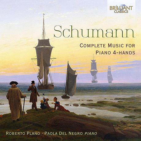 COMPLETE MUSIC FOR PIANO 4 HANDS/ ROBERTO PLANO, PAOLA DEL NEGRO [슈만: 피아노 연탄곡 폴로네이즈,소품, 즉흥곡 모음집 - 플라노, 네그로]