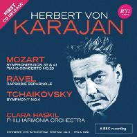 SYMPHONY NO.4, RAPSODIE ESPAGNOLE, SYMPHONY NO.35, 41 & PIANO CONCERTO NO.23/ CLARA HASKIL, HERBERT VON KARAJAN [차이코프스키: 교향곡 4번, 라벨: 스페인 광시곡, 모차르트 교향곡, 피아노 협주곡 23번 - 카라얀]